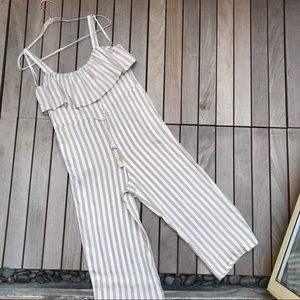 ZARA TRF Collection Tan & White Striped Jumper